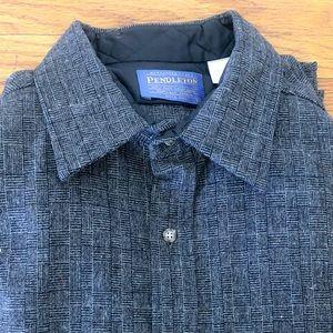 Pendleton - 100% Wool Shirt w/ Elbow Patches